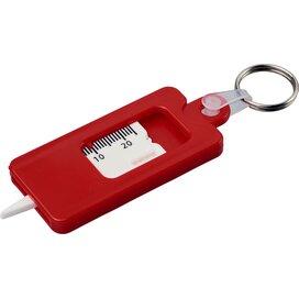 Check it bandenprofielmeter met sleutelring Rood