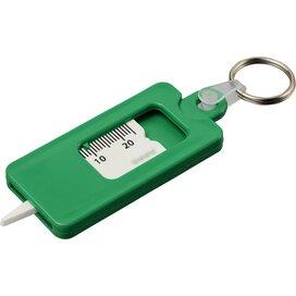 Check it bandenprofielmeter met sleutelring Groen