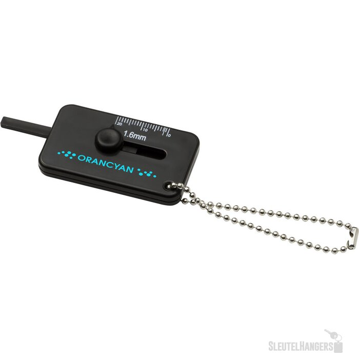 Kepi bandenprofielmeter met sleutelring Zwart