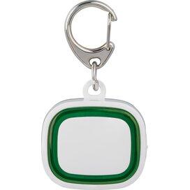 Sleutelhanger met licht, oplaadbaar 500 wit/groen