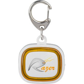 Sleutelhanger met licht, oplaadbaar 500 wit/oranje