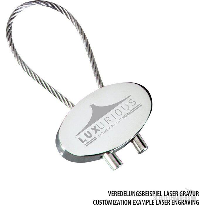 Sleutelhanger Cable mat zilver, zilver