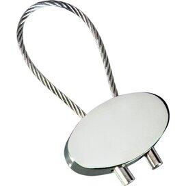 Sleutelhanger Cable Shiny zilver, glanzend zilver