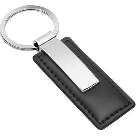 Sleutelhanger Perris Rectangular zwart, zilver